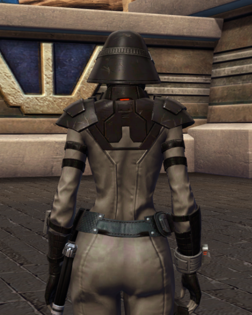 Reconstructed Apprentice Armor Set Back from Star Wars: The Old Republic.