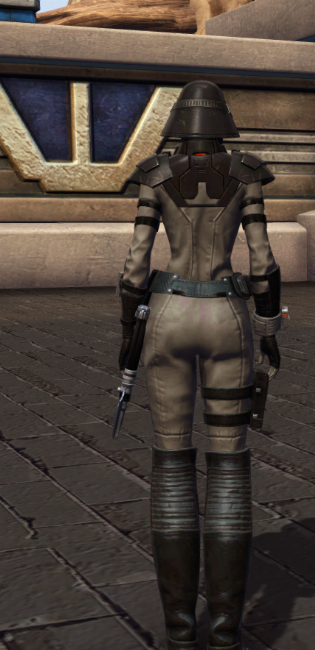 Reconstructed Apprentice Armor Set player-view from Star Wars: The Old Republic.