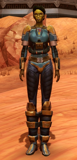Refurbished Scrapyard Armor Set Outfit from Star Wars: The Old Republic.