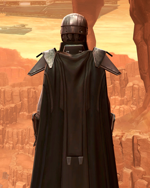 Reinforced Diatium Armor Set Back from Star Wars: The Old Republic.