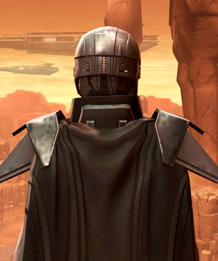 Reinforced Diatium Armor Set detailed back view from Star Wars: The Old Republic.