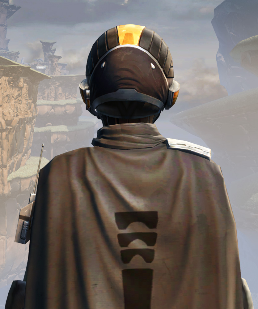 Remnant Arkanian Smuggler Armor Set detailed back view from Star Wars: The Old Republic.