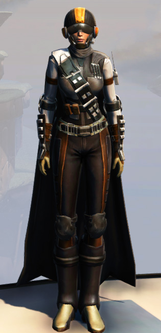 Remnant Arkanian Smuggler Armor Set Outfit from Star Wars: The Old Republic.