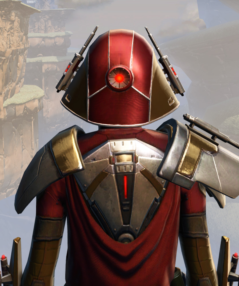 Remnant Arkanian Warrior Armor Set detailed back view from Star Wars: The Old Republic.