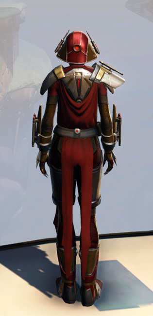 Remnant Arkanian Warrior Armor Set player-view from Star Wars: The Old Republic.