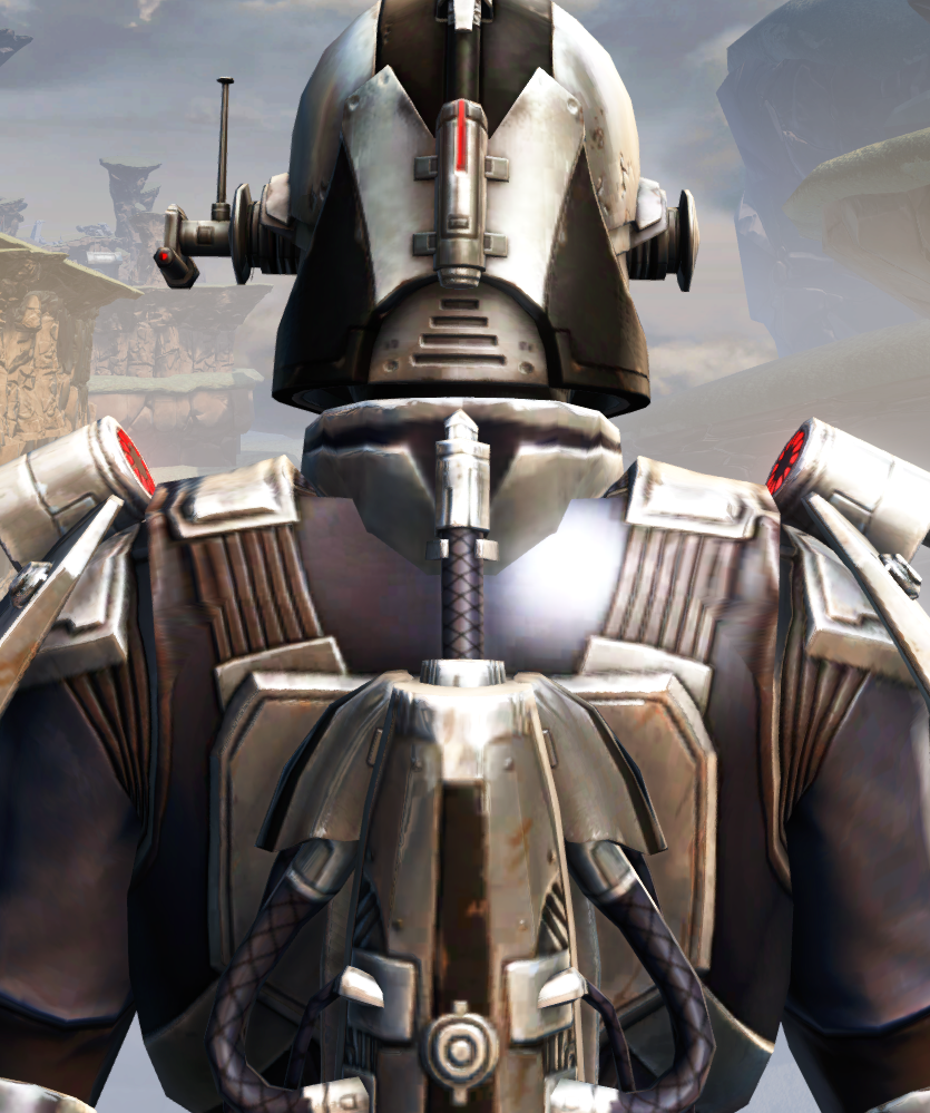 Remnant Dreadguard Bounty Hunter Armor Set detailed back view from Star Wars: The Old Republic.