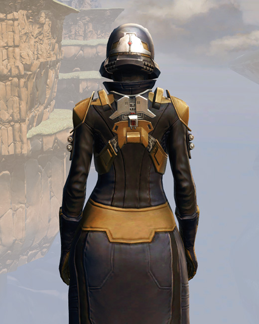 Remnant Underworld Agent Armor Set Back from Star Wars: The Old Republic.
