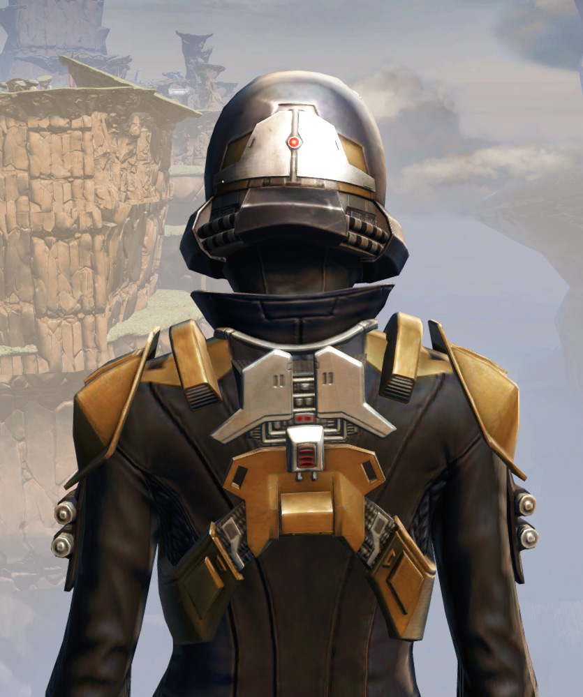 Remnant Underworld Agent Armor Set detailed back view from Star Wars: The Old Republic.
