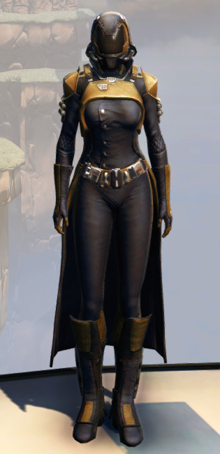 Remnant Underworld Agent Armor Set Outfit from Star Wars: The Old Republic.