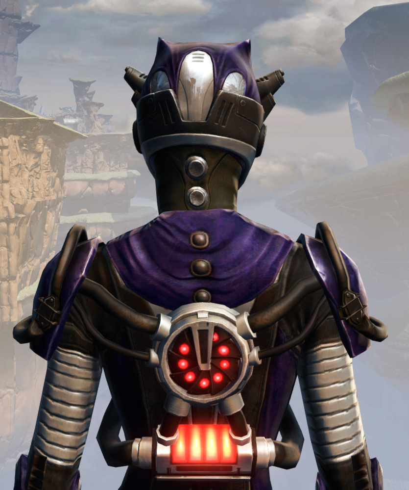 Remnant Underworld Inquisitor Armor Set detailed back view from Star Wars: The Old Republic.