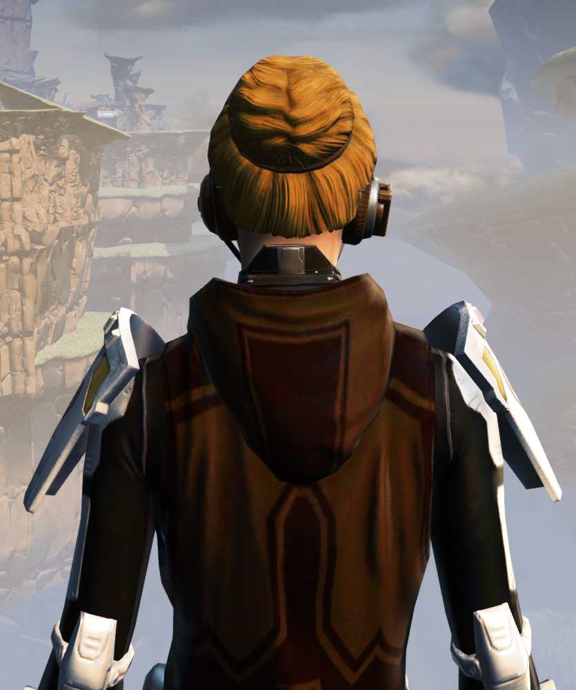 Remnant Underworld Knight (Hoodless) Armor Set detailed back view from Star Wars: The Old Republic.