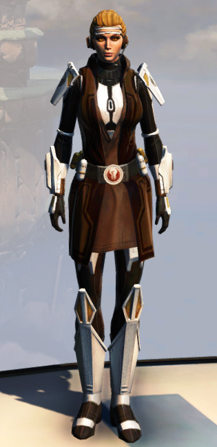 Remnant Underworld Knight (Hoodless) Armor Set Outfit from Star Wars: The Old Republic.