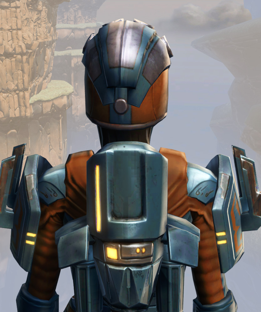 Remnant Yavin Bounty Hunter Armor Set detailed back view from Star Wars: The Old Republic.