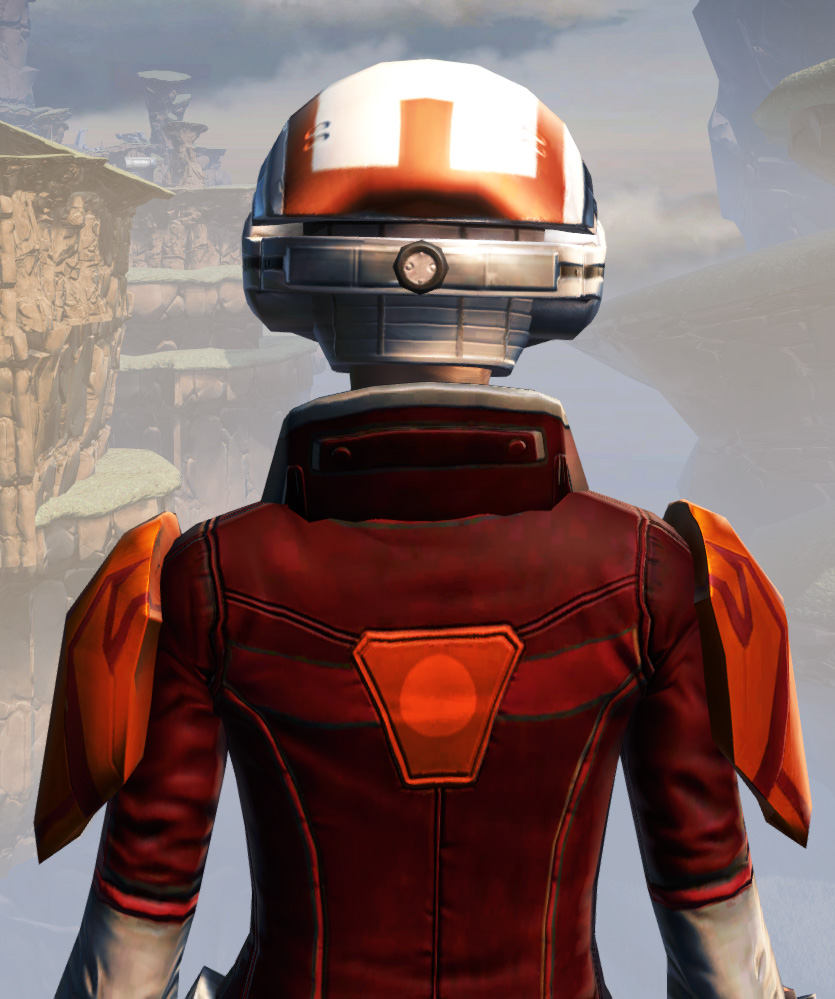 Remnant Yavin Smuggler Armor Set detailed back view from Star Wars: The Old Republic.