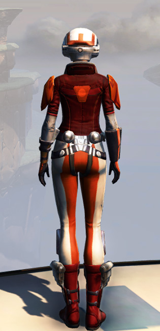 Remnant Yavin Smuggler Armor Set player-view from Star Wars: The Old Republic.