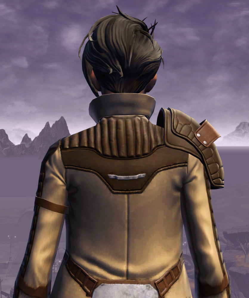 Renowned Duelist Armor Set detailed back view from Star Wars: The Old Republic.
