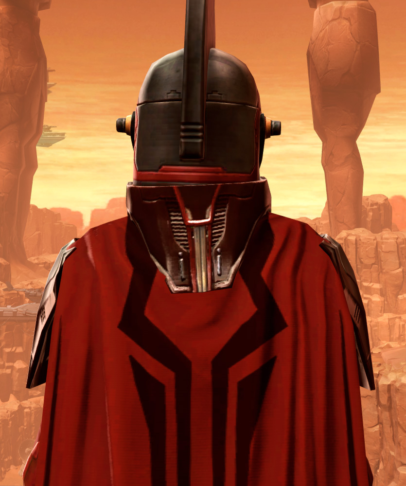 Resilient Polyplast Armor Set detailed back view from Star Wars: The Old Republic.