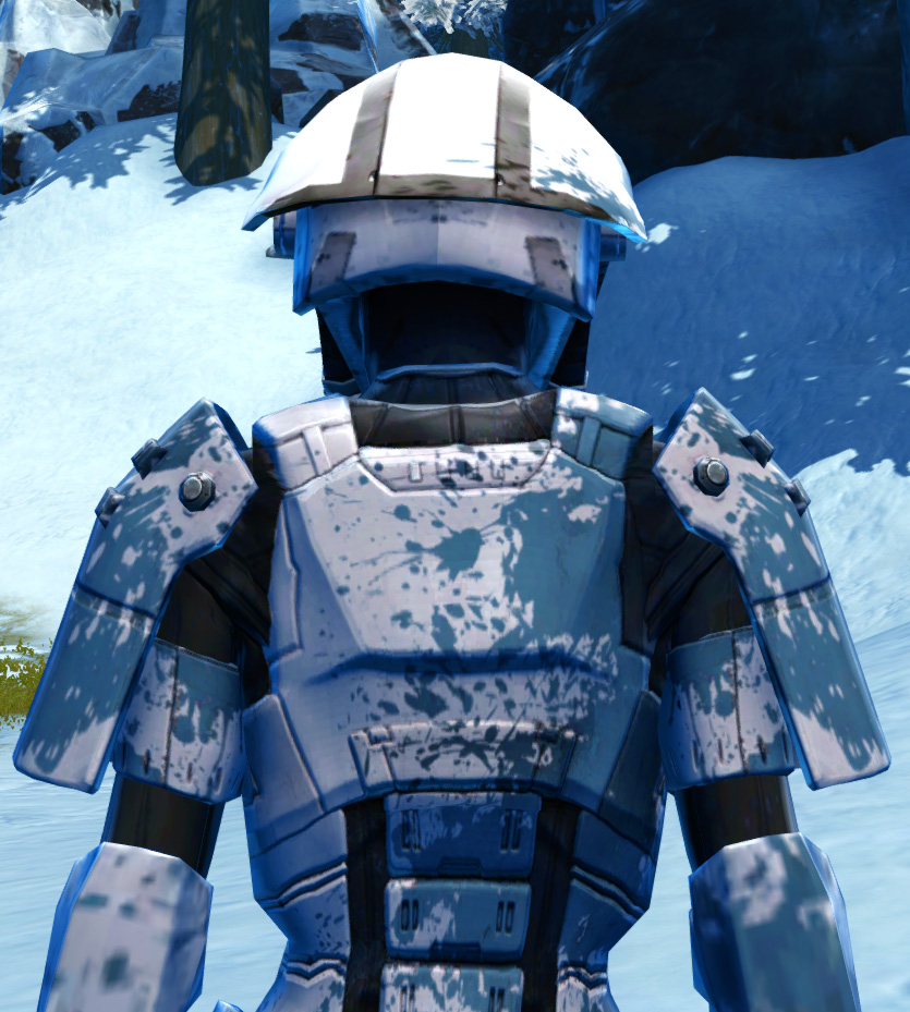 Resolute Protector Armor Set detailed back view from Star Wars: The Old Republic.