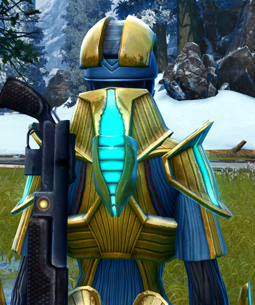 Righteous Enforcer Armor Set detailed back view from Star Wars: The Old Republic.
