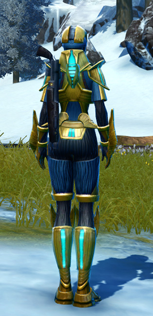 Righteous Enforcer Armor Set player-view from Star Wars: The Old Republic.