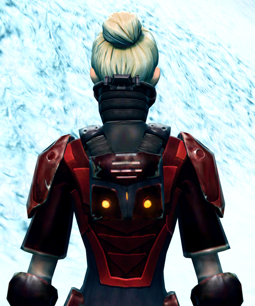 Ruthless Challenger Armor Set detailed back view from Star Wars: The Old Republic.