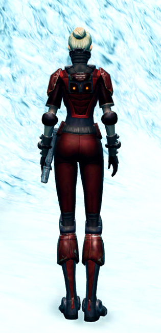 Ruthless Challenger Armor Set player-view from Star Wars: The Old Republic.