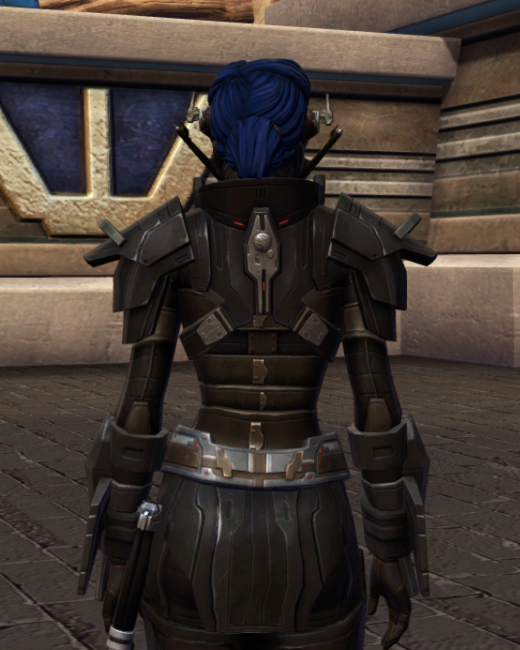 Ruthless Oppressor Armor Set Back from Star Wars: The Old Republic.