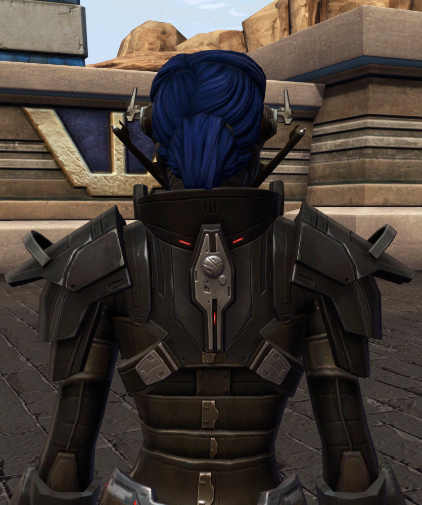 Ruthless Oppressor Armor Set detailed back view from Star Wars: The Old Republic.