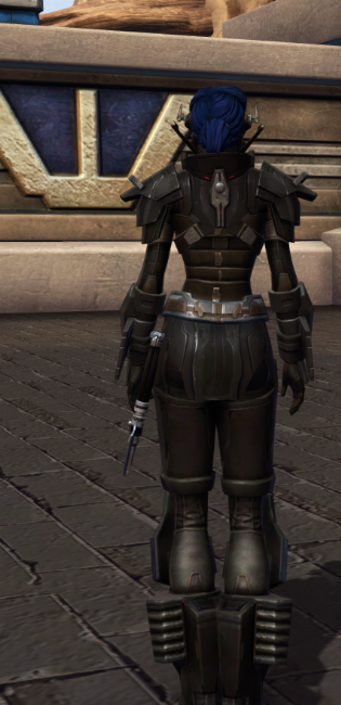 Ruthless Oppressor Armor Set player-view from Star Wars: The Old Republic.