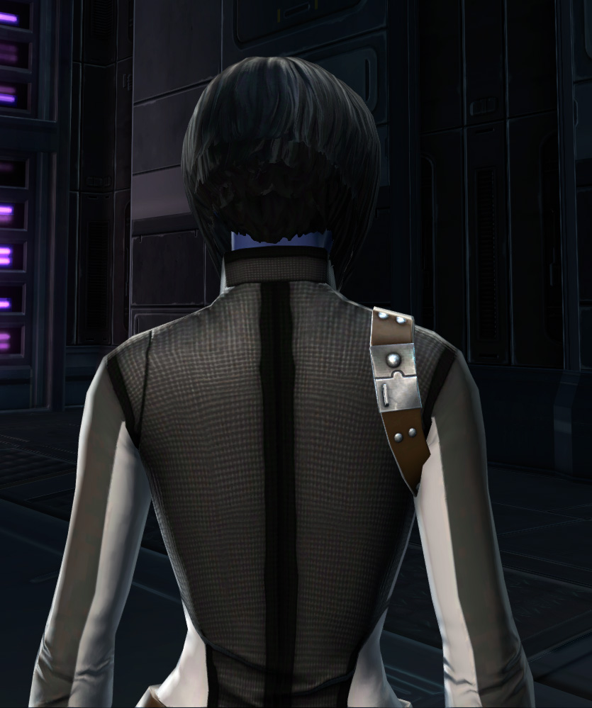 RV-03 Speedsuit Armor Set detailed back view from Star Wars: The Old Republic.