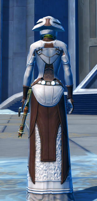 Saava Force Expert Armor Set player-view from Star Wars: The Old Republic.