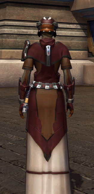 Saber Master Armor Set player-view from Star Wars: The Old Republic.