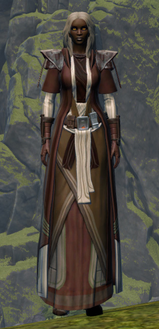 Sanctified Caretaker Armor Set Outfit from Star Wars: The Old Republic.