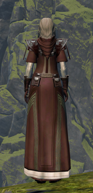 Sanctified Caretaker Armor Set player-view from Star Wars: The Old Republic.