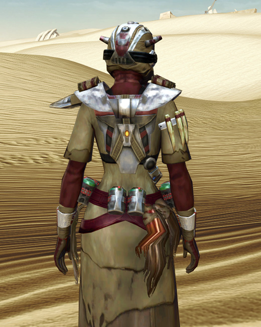 Sand People Pillager Armor Set Back from Star Wars: The Old Republic.
