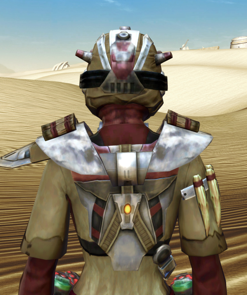 Sand People Pillager Armor Set detailed back view from Star Wars: The Old Republic.