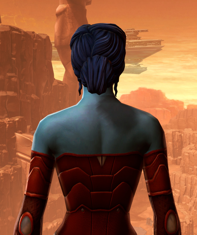 Sensuous Dress Armor Set detailed back view from Star Wars: The Old Republic.