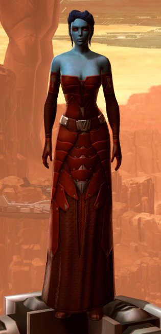 Sensuous Dress Armor Set Outfit from Star Wars: The Old Republic.