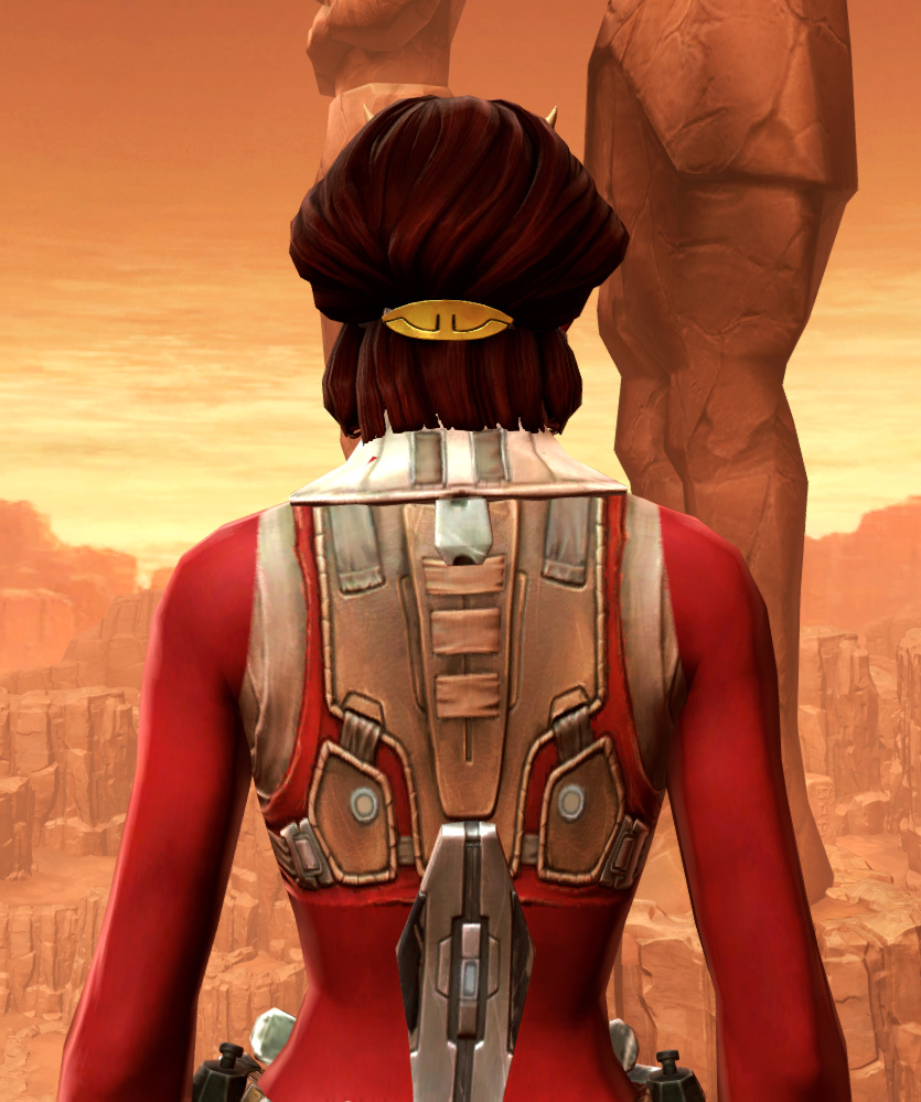 Septsilk Aegis Armor Set detailed back view from Star Wars: The Old Republic.