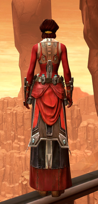 Septsilk Aegis Armor Set player-view from Star Wars: The Old Republic.