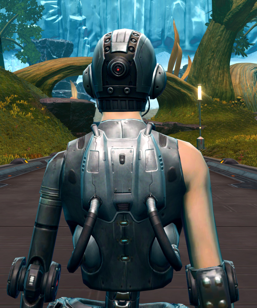 Series 616 Cybernetic Armor Set detailed back view from Star Wars: The Old Republic.