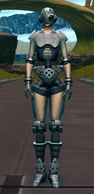 Series 858 Cybernetic Armor Armor Set Outfit from Star Wars: The Old Republic.