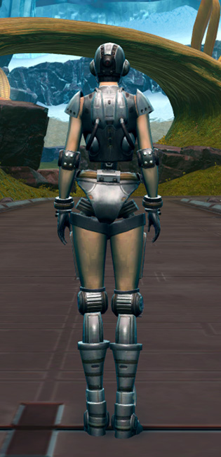 Series 858 Cybernetic Armor Armor Set player-view from Star Wars: The Old Republic.