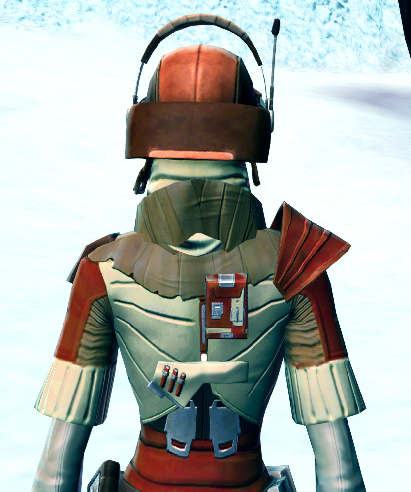 Shrewd Privateer Armor Set detailed back view from Star Wars: The Old Republic.