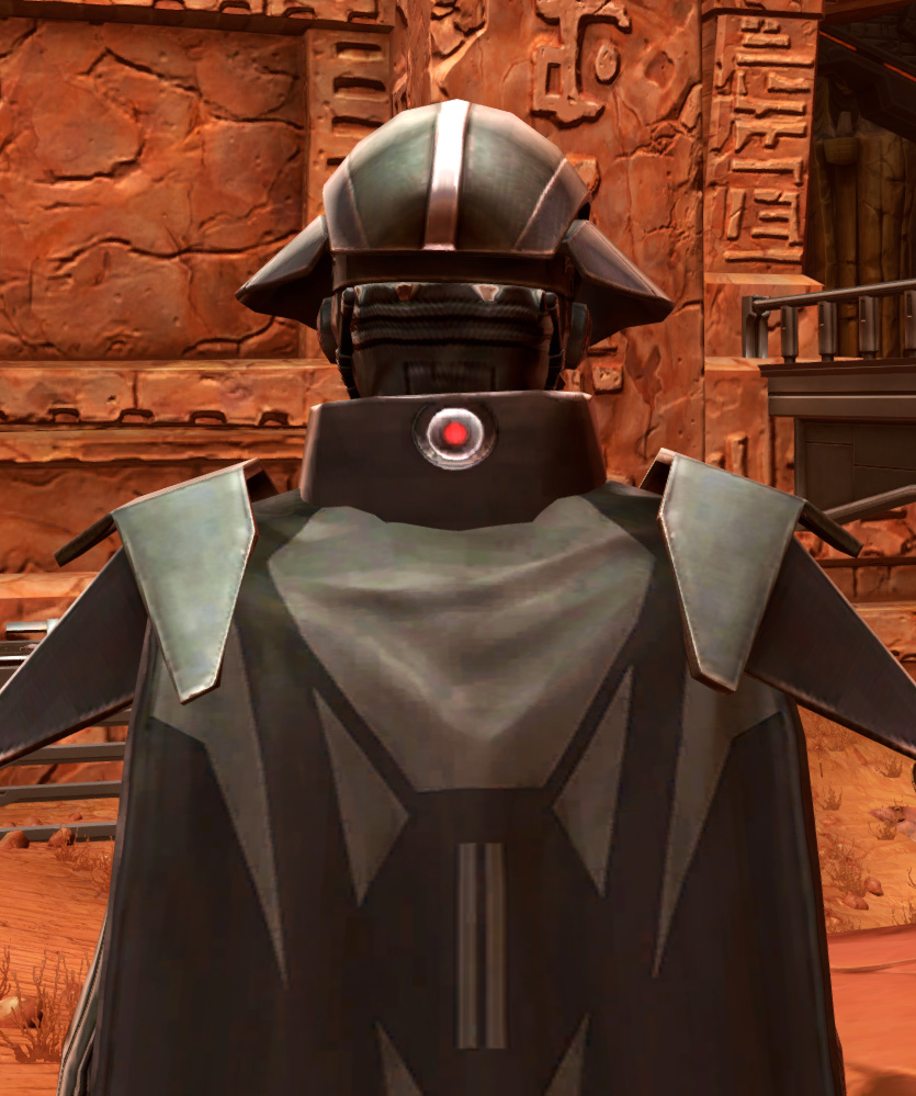 Sith Annihilator Armor Set detailed back view from Star Wars: The Old Republic.