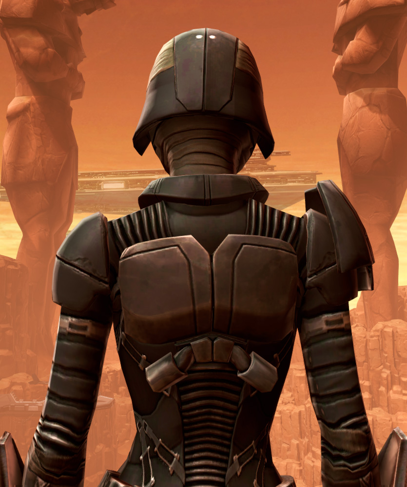Sith Recluse Armor Set detailed back view from Star Wars: The Old Republic.