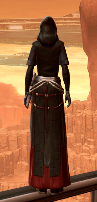 Sorcerer Armor Set player-view from Star Wars: The Old Republic.