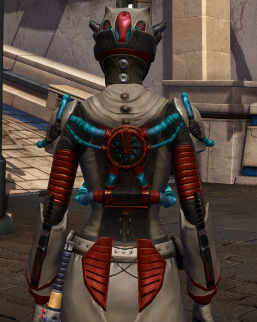 Soulbenders Armor Set Back from Star Wars: The Old Republic.