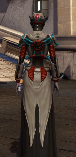 Soulbenders Armor Set player-view from Star Wars: The Old Republic.
