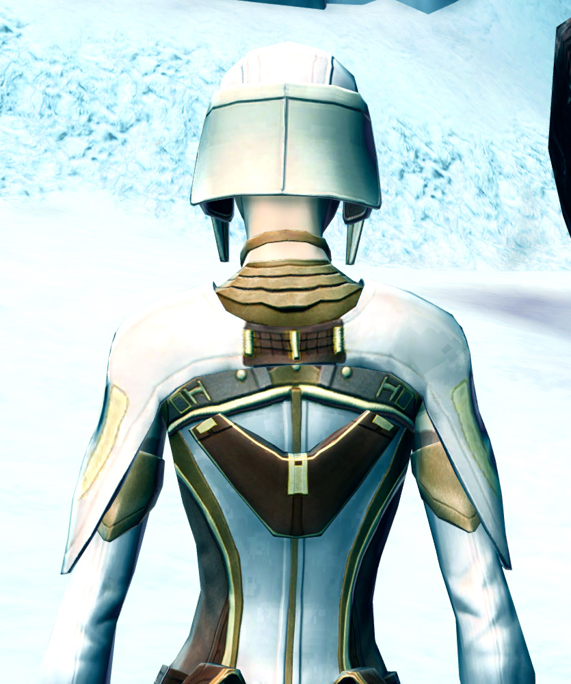 Stately Diplomat Armor Set detailed back view from Star Wars: The Old Republic.